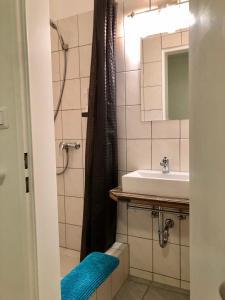 Ein Badezimmer in der Unterkunft Hotel Nello