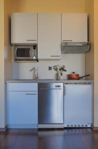 A kitchen or kitchenette at City Apartments Regence