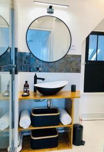 Salle de bains dans l'établissement Le cœur de Troyes - Appartement