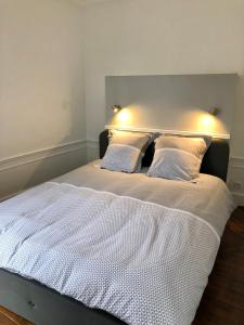 Un ou plusieurs lits dans un hébergement de l'établissement Le cœur de Troyes - Appartement