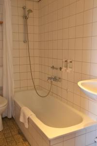 Een badkamer bij Fletcher Badhotel Egmond aan Zee