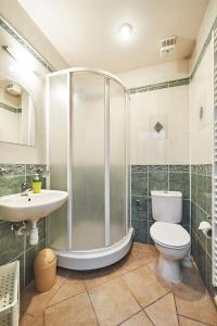 A bathroom at Penzion Vila Milica