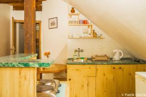 A kitchen or kitchenette at Penzion Vila Milica