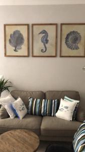 Uma área de estar em A cà da Alba Rooms