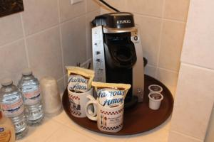 Coffee and tea-making facilities at Dominion Hotel