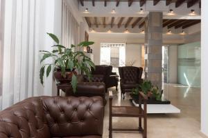 Лобби или стойка регистрации в Hotel Roca-Mar