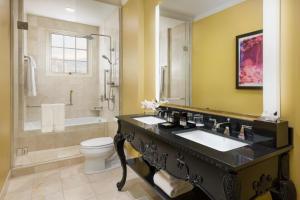 A bathroom at Huntington Hotel