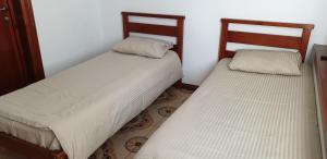Кровать или кровати в номере Гостиница Привал