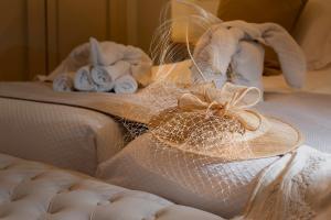 Cama o camas de una habitación en Hostal Boutique Plaza Cantarero