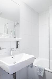 A bathroom at Hotel Schwarzsee