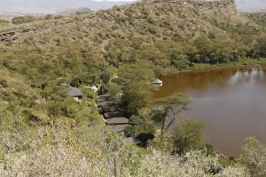 A bird's-eye view of Crater Lake Tented Camp And Game Sanctuary