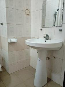 A bathroom at Serene Hotel