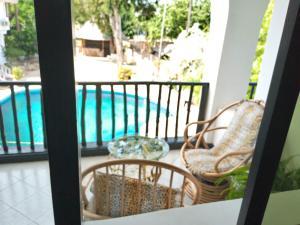A balcony or terrace at Serene Hotel