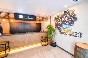 The lobby or reception area at ICI HOTEL Asakusabashi