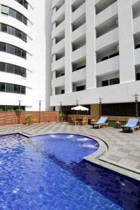 The swimming pool at or near Princeton Bangkok