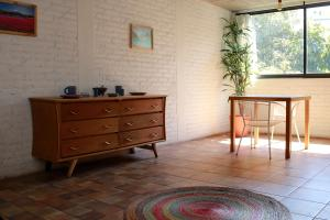 A seating area at Coyoacan City Lofts
