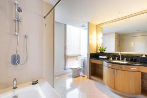 A bathroom at Ascott Sathorn Bangkok