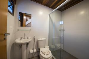 A bathroom at Vila Dom Bosco