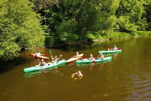 Canoeing at the campground or nearby