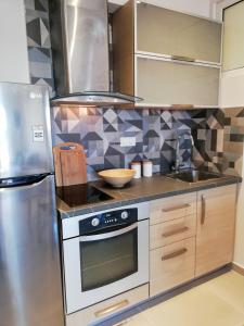 Η κουζίνα ή μικρή κουζίνα στο Skiathos Gea Villas