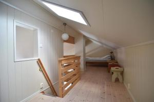 A bunk bed or bunk beds in a room at Finsnes Gaard