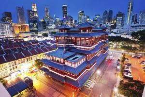 A bird's-eye view of Two Bedroom in Chinatown above MRT