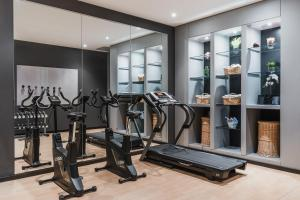 The fitness center and/or fitness facilities at Max Hotel Livorno