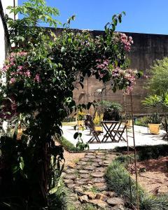 A garden outside Hotel Ibiá