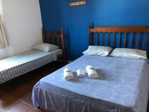 Cama ou camas em um quarto em Pousada Brasileirinho