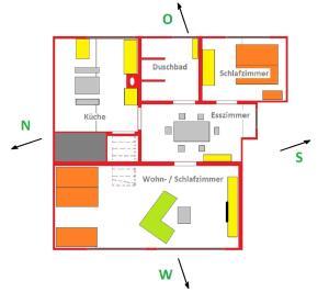 Grundriss der Unterkunft Deichwinzer
