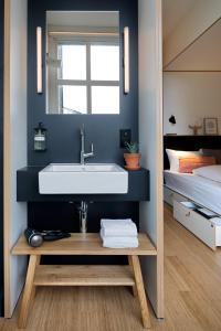 A bathroom at Zoku Amsterdam