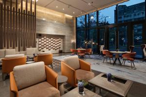 台北新板希爾頓酒店酒吧或休息區