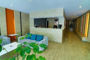 The lobby or reception area at Mallorca Hotel