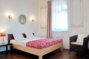 Кровать или кровати в номере Скай на Невском
