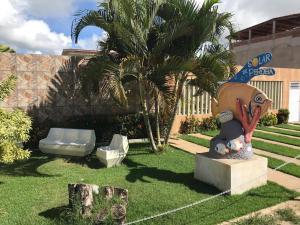 A garden outside Solar de Peroba