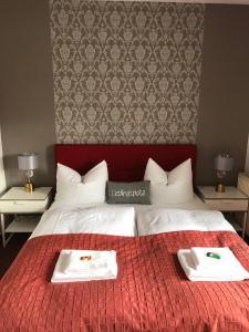 Кровать или кровати в номере Hotel Annablick