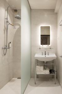 Salle de bains dans l'établissement Hotel Groenendaal