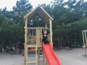 Children's play area at Mändjala Camping