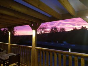 A balcony or terrace at The Rivers Arms
