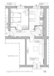 Plan piętra w obiekcie Apartament Glinki