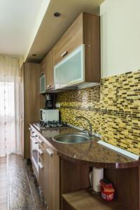 O bucătărie sau chicinetă la Apartament Carol Davila