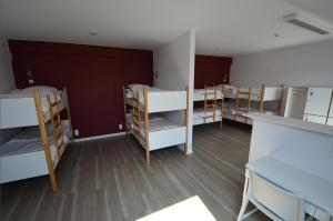 A bunk bed or bunk beds in a room at Auberge des 3 Fontaines
