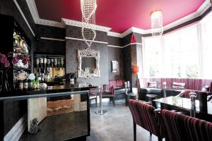 The lounge or bar area at Cotford Hotel