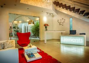 The lobby or reception area at Elements Hotel Boutique