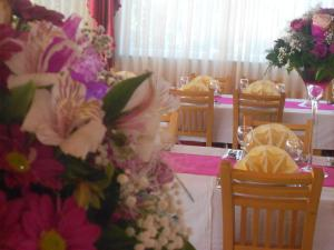 Banquet facilities at the guest house