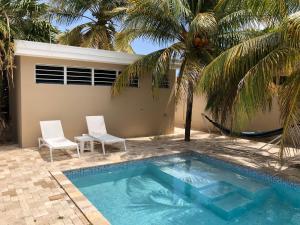 Het zwembad bij of vlak bij Casa Tulia - Curaçao