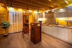 A kitchen or kitchenette at Welf Resort