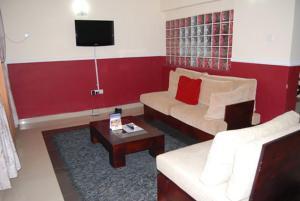 A seating area at Koraf Hotels