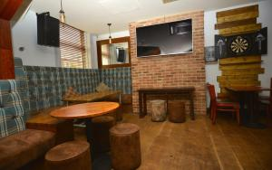 The lounge or bar area at Whites Hotel