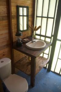 A bathroom at Safio. Una casa en el paraiso.